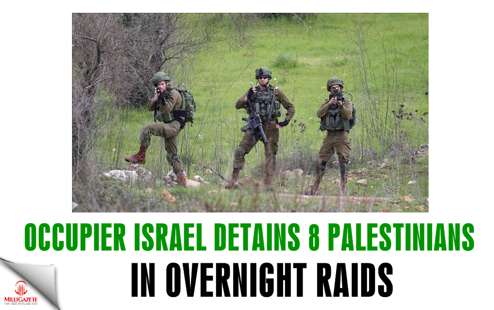 Israel detains 8 Palestinians in overnight raids