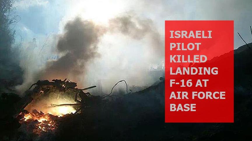 Israeli pilot killed landing F-16 at air force base
