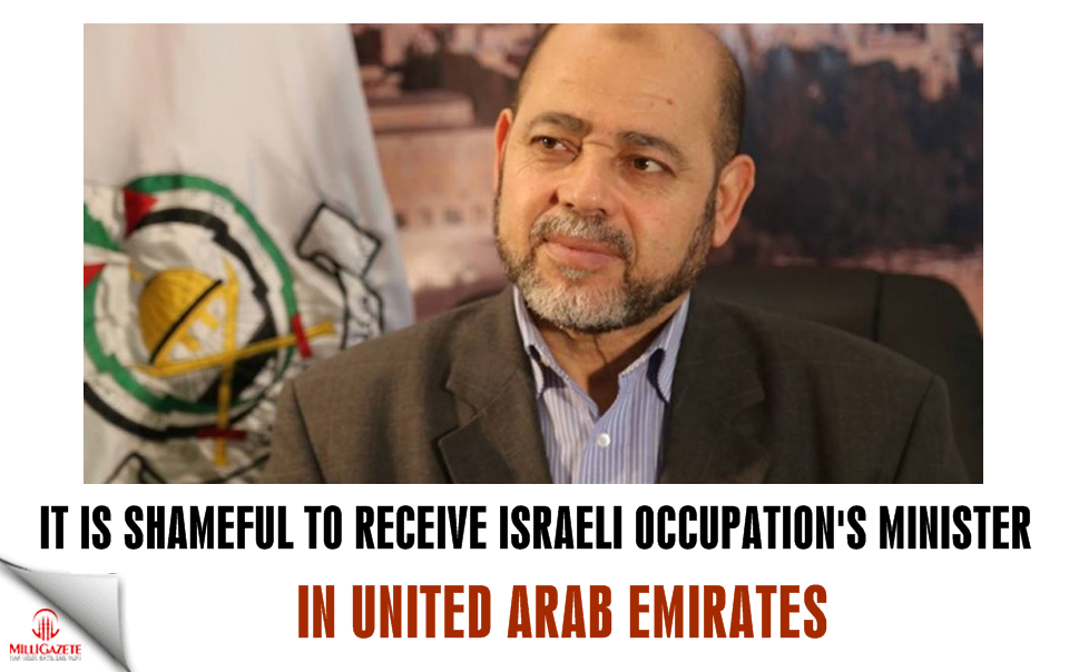 It is shameful to receive Israeli occupation's minister in UAE