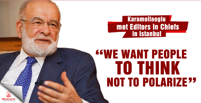 Karamollaoglu: We want people to think, not to polarize