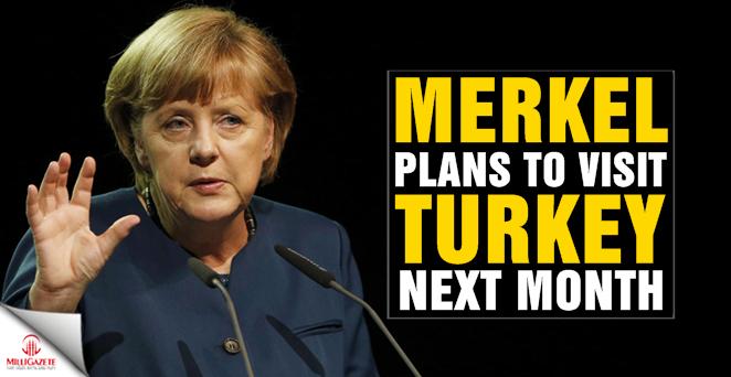 Merkel plans to visit Turkey next month