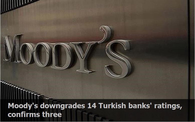 Moody's downgrades 14 Turkish banks' ratings, confirms three