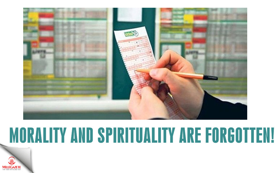Morality and spirituality are forgotten!