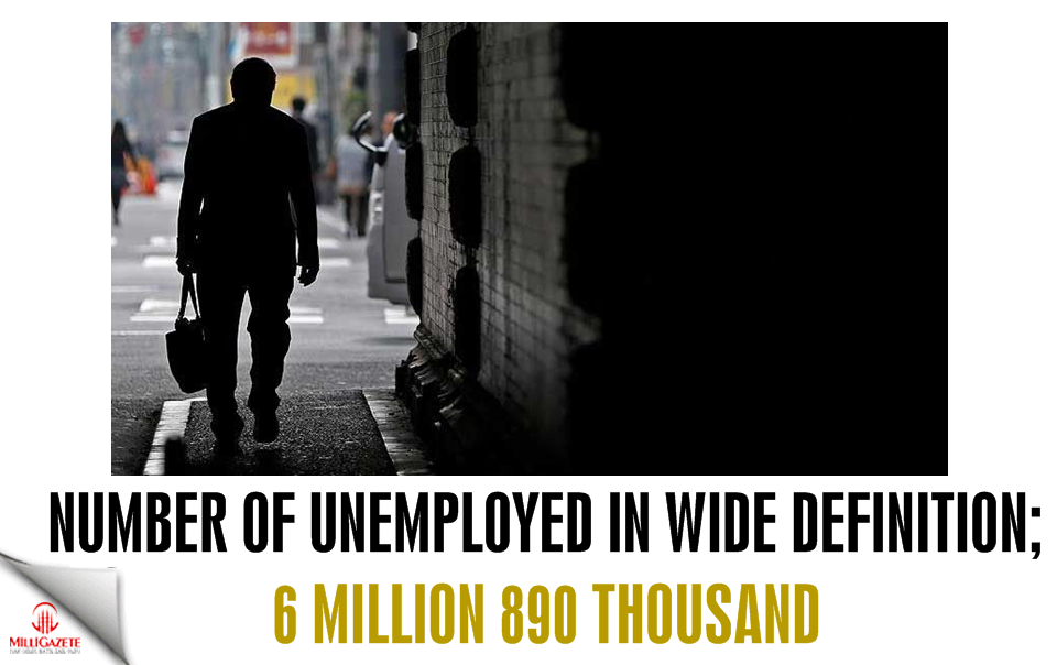 Number of unemployed in wide definition 6 million 890 thousand
