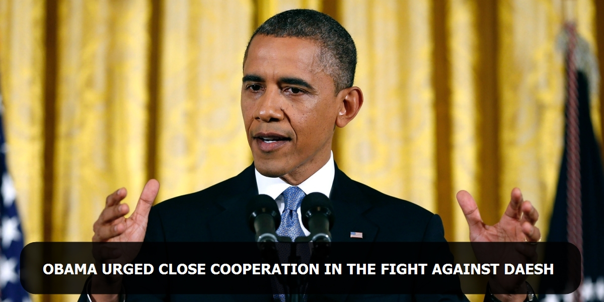 Obama urged close cooperation in the fight against IS