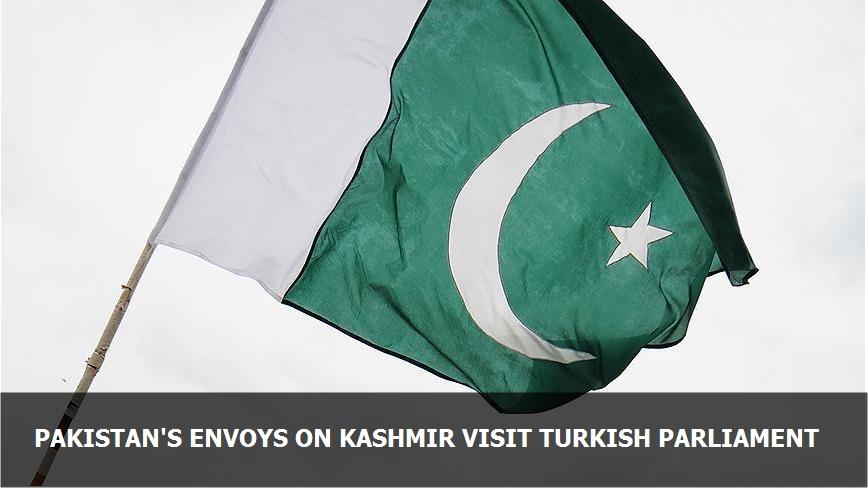 Pakistan's envoys on Kashmir visit Turkish parliament