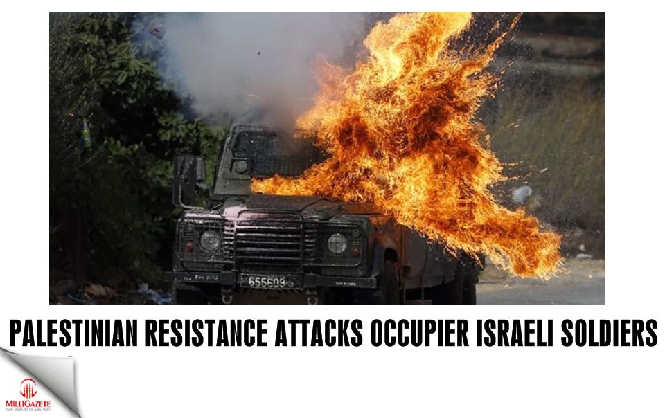 Palestinian resistance attacks occupier Israeli soldiers