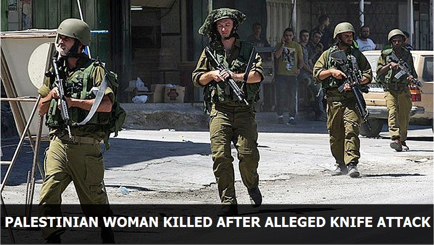 Palestinian woman killed after alleged knife attack