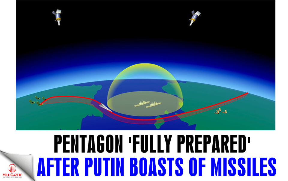 Pentagon 'fully prepared' after Putin boasts of hypersonic missiles