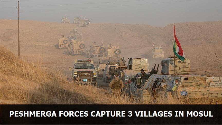Peshmerga forces capture 3 villages in Mosul