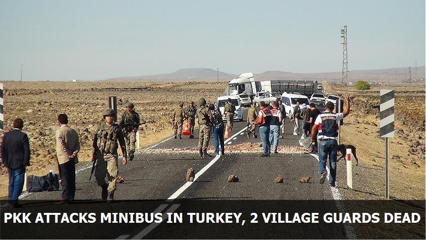 PKK attacks minibus in Turkey, 2 village guards dead