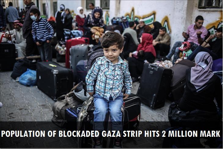 Population of blockaded Gaza Strip hits 2-million mark