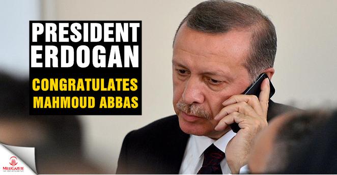 President Erdogan congratulates Mahmoud Abbas