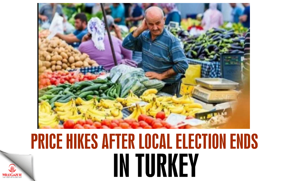 Price hikes after local election ends in Turkey
