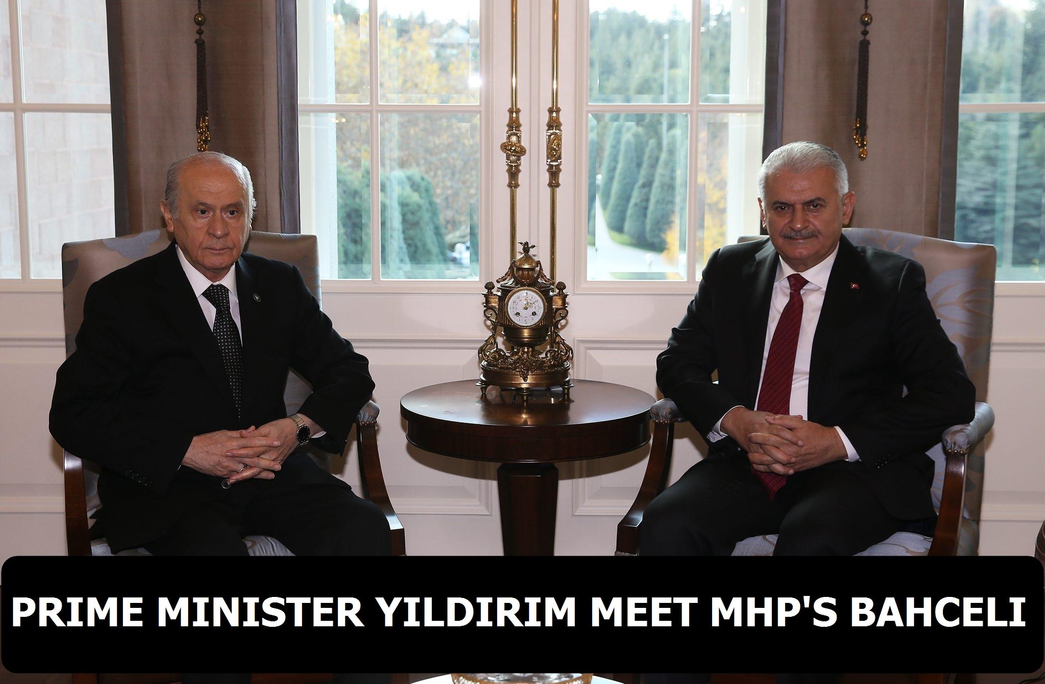 Prime Minister Yildirim meet MHP's Bahceli