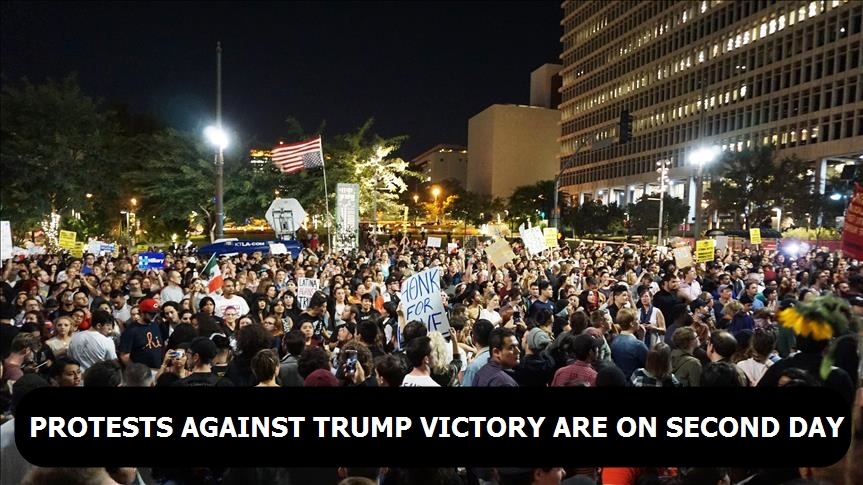 Protests against Trump victory are on second day