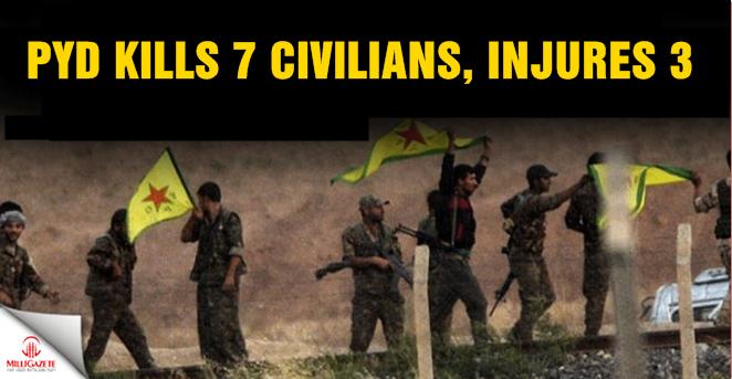 PYD kills 7 civilians, injures 3 Syrians