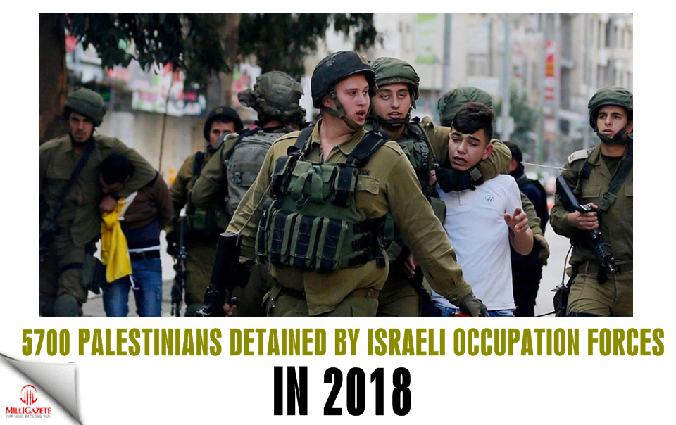 Report: 5700 Palestinians detained by Israeli Occupation forces in 2018