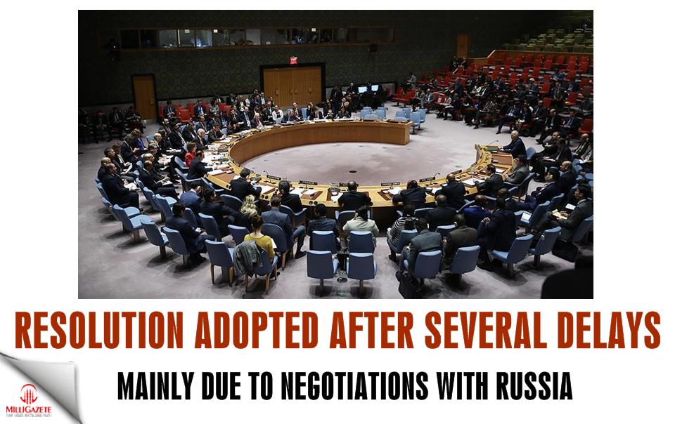 Resolution adopted after several delays, mainly due to negotiations with Russia