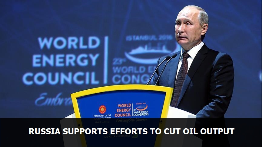 Russia supports efforts to cut oil output