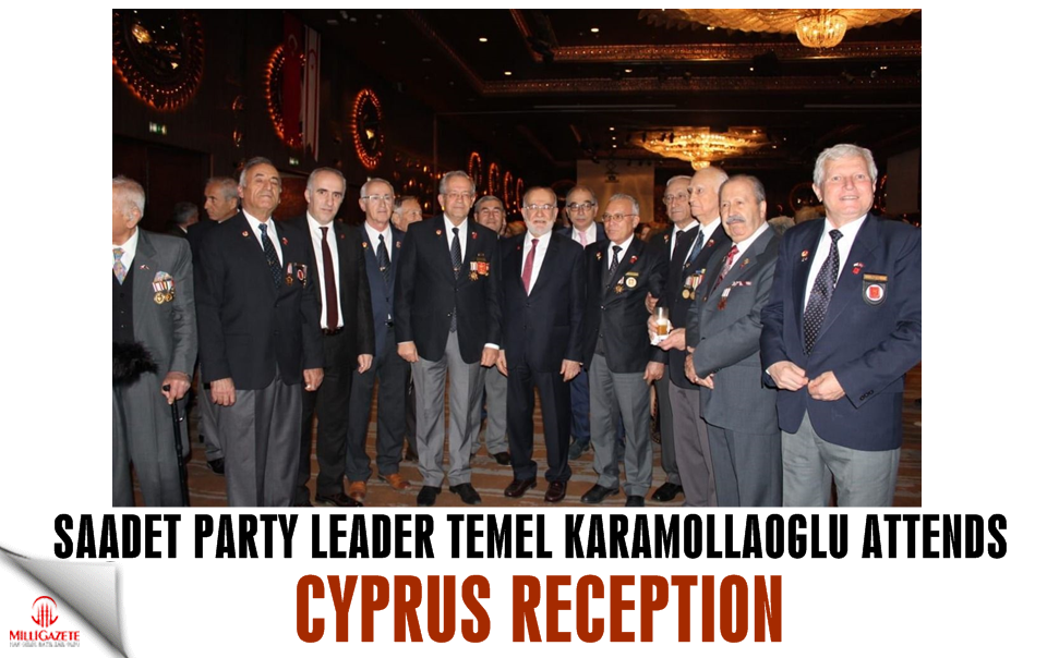 Saadet leader Temel Karamollaoglu attends Cyprus reception