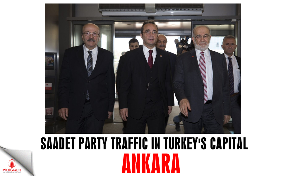 Saadet Party traffic in Turkey's capital Ankara