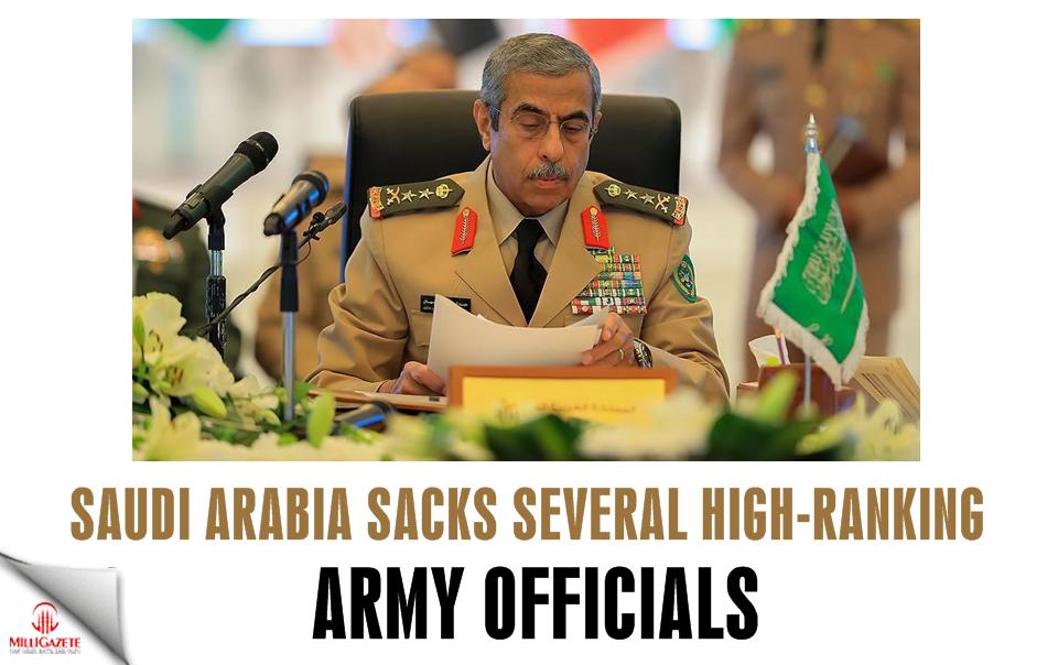 Saudi Arabia sacks several high-ranking army officials