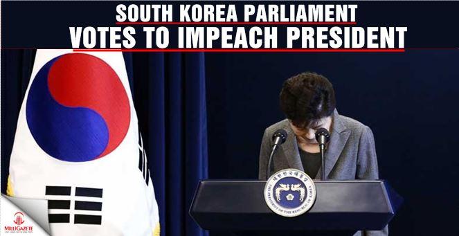 South Korea parliament votes to impeach president