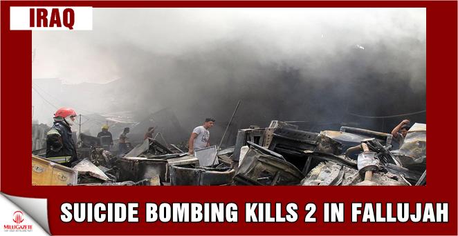 Suicide bombing kills 2 in Fallujah