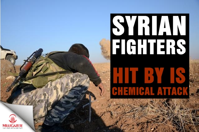 Syrian fighters hit by IS chemical attack