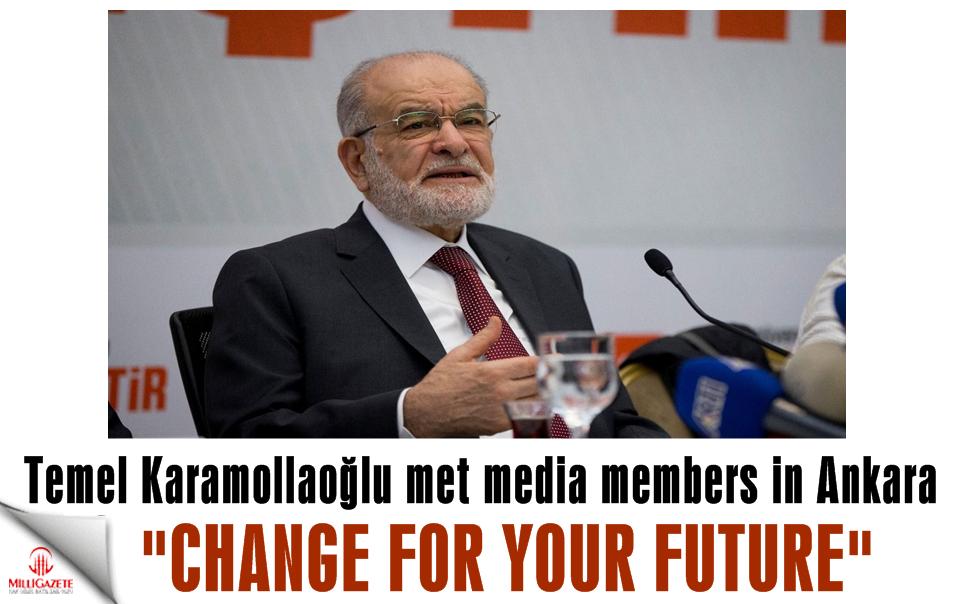 Temel Karamollaoğlu met media members ...