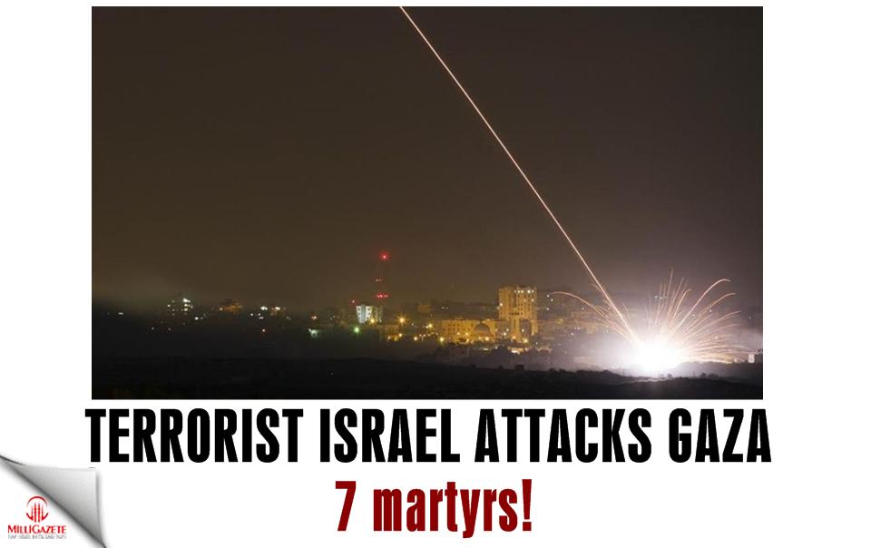 Terrorist Israel attacks Gaza: 7 martyrs
