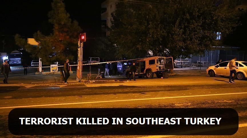 Terrorist killed in southeast Turkey