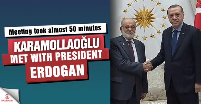 The Chairman of Saadet Party Temel Karamollaoglu met with President Erdogan
