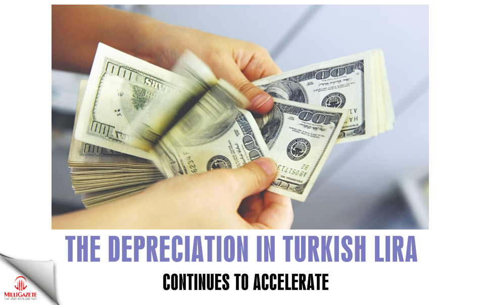 The depreciation in the Turkish Lira continues to accelerate every day