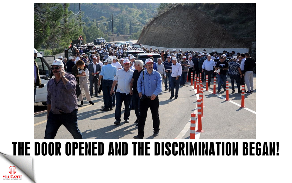 The door opened, and the discrimination began