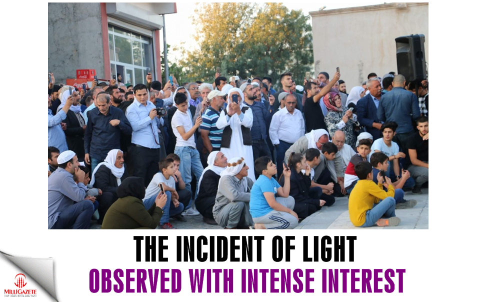 The incident of light observed with intense interest