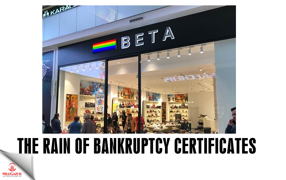 The rain of bankruptcy certificates