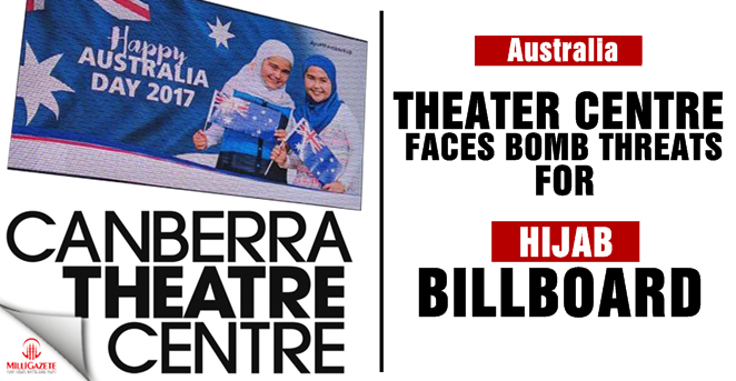 Theater Centre faces bomb threats for 'Hijab' billboard