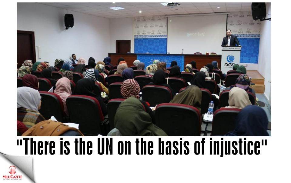 There is the UN on the basis of injustice