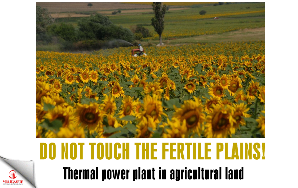 Thermal power plant in agricultural land! Do not touch the fertile plains!