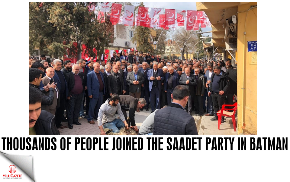 Thousands of people joined the Saadet Party in Batman