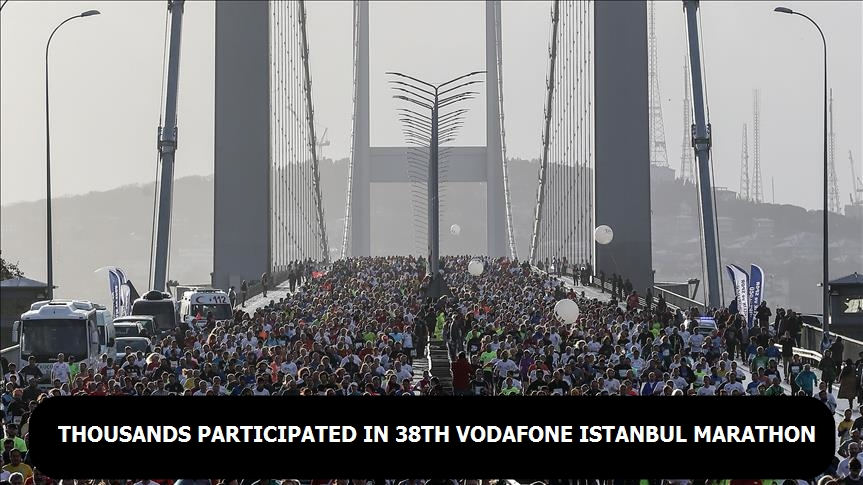 Thousands participated in 38th Vodafone Istanbul Marathon