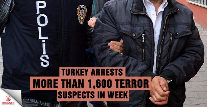 Turkey arrests more than 1,600 terror suspects in week