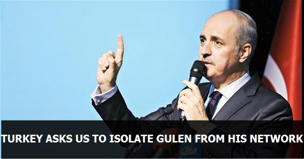 Turkey asks US to isolate Gülen from his network