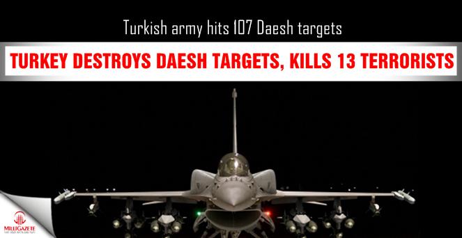 Turkey destroys Daesh targets, kills 13 terrorists