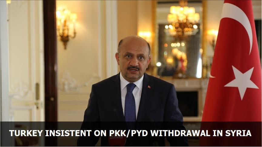 Turkey insistent on PKK/PYD withdrawal in Syria