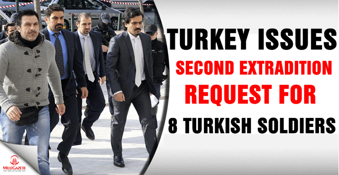 Turkey issues second extradition request for 8 Turkish soldiers