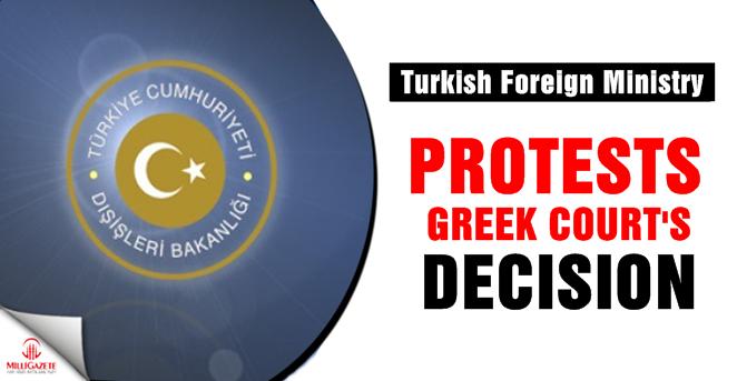 Turkey protests Greek court's decision