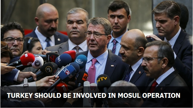Turkey should be involved in Mosul operation